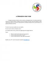 A STRINGER IN NEW YORK